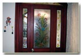 Laminated glass, V grooved glass,